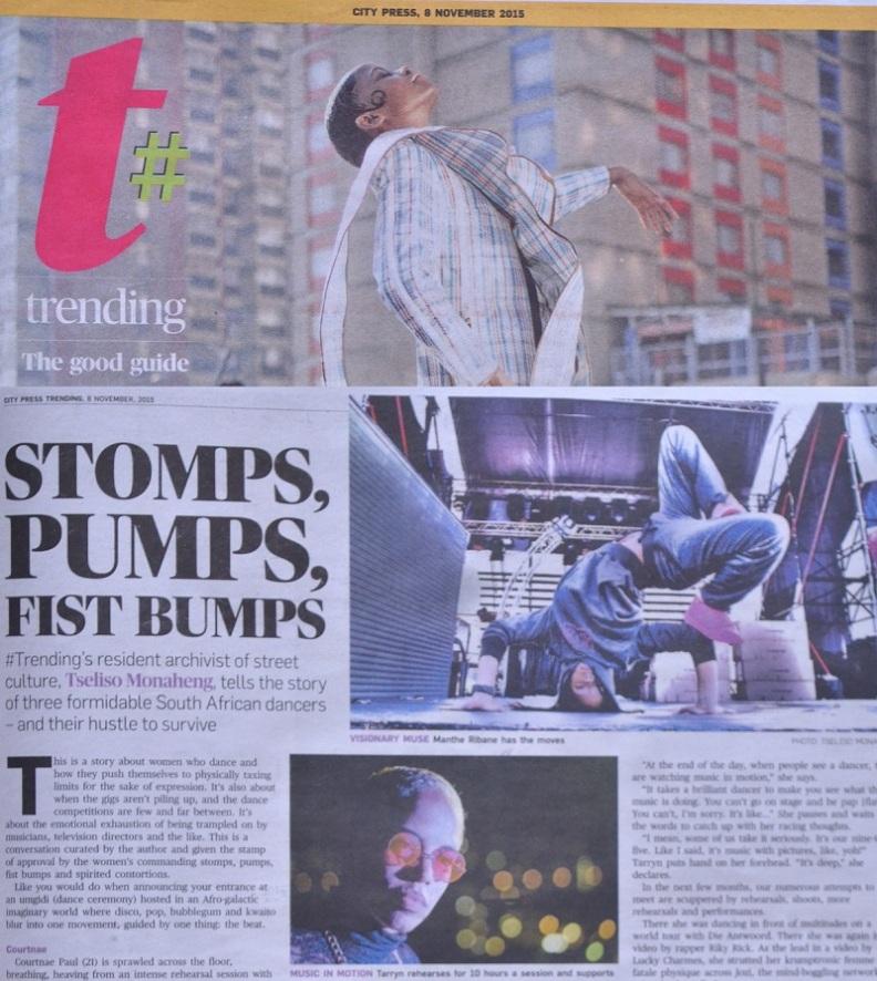 Stomps, Bumps, Fist pums by Tseliso Monaheng [City Press]