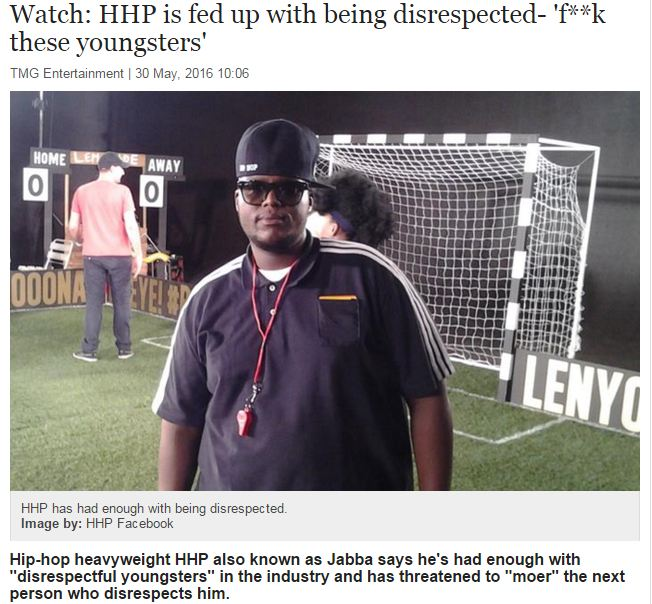 hhp video on timeslive website